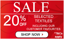 20% Off Textiles August 2017