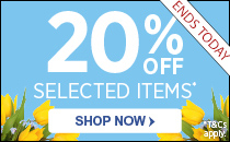 20% Off Easter Essentials ENDS TODAY
