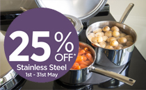 25% off AGA Stainless Steel