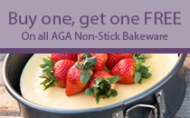 Buy one get one free on AGA Non-stick Bakeware