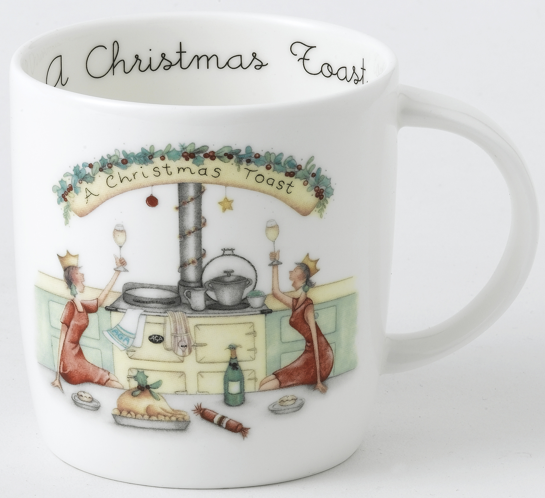 AGA Mug Designs by Berni Parker - A Christmas Toast