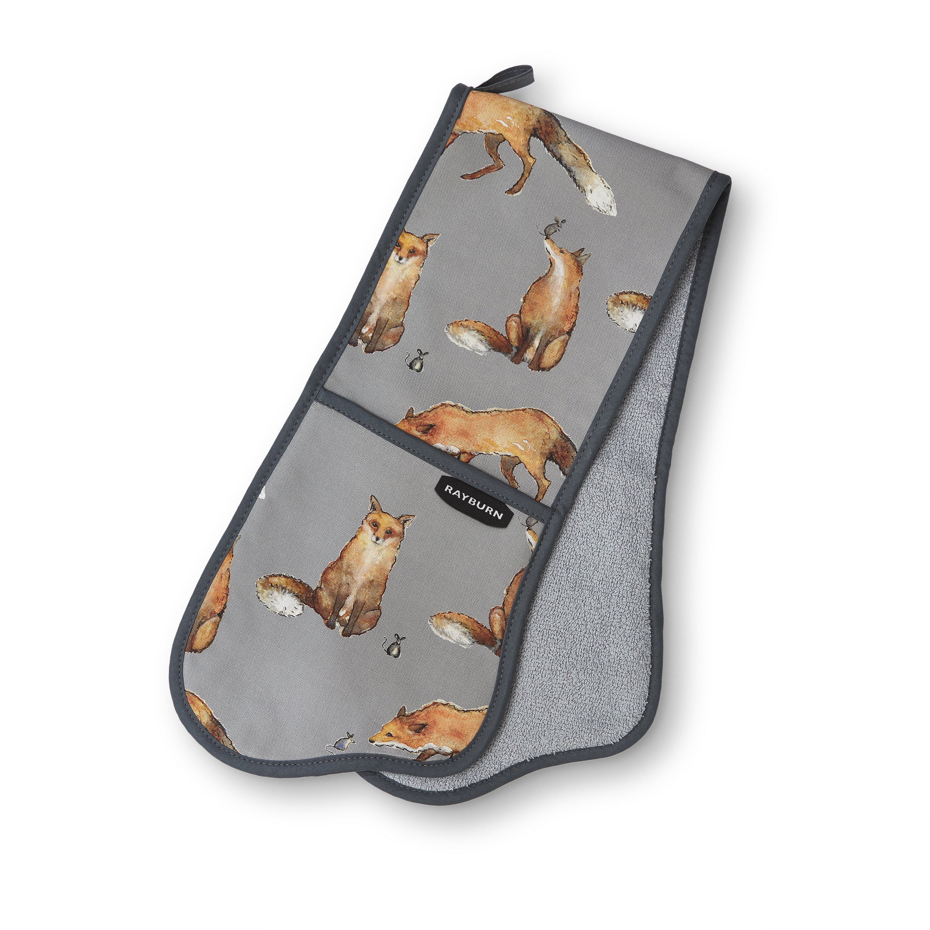 Cookware Rayburn Fox and Mouse Double Oven Glove