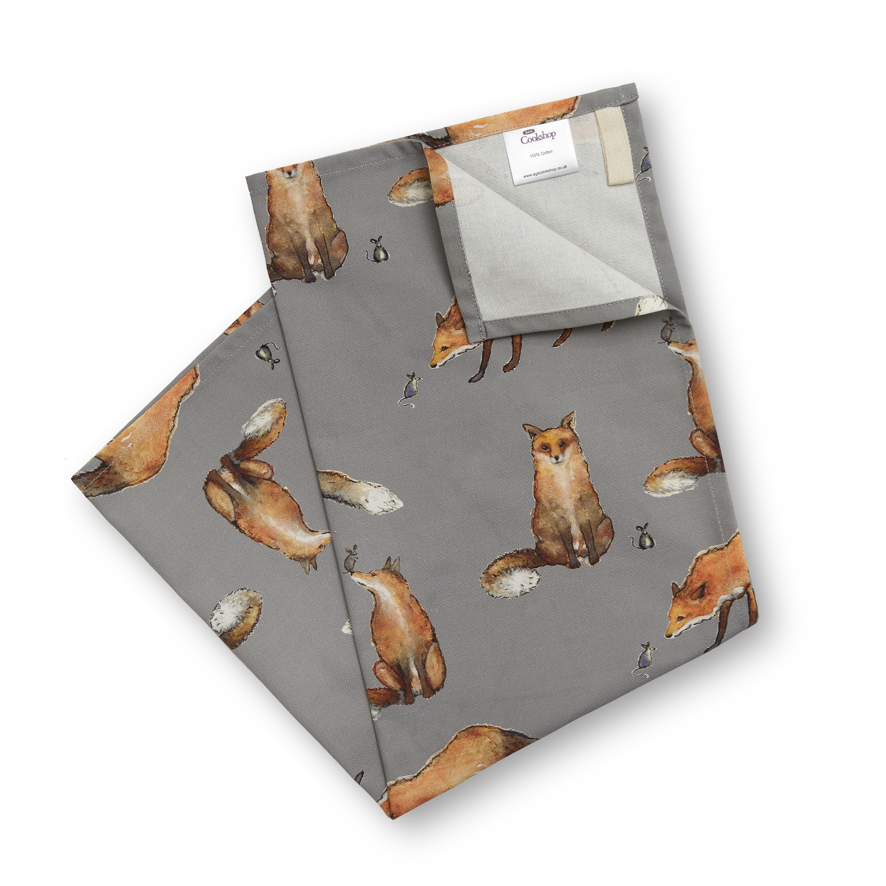 Cookware Rayburn Fox and Mouse Tea Towel