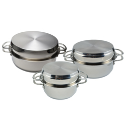 Set of 3 AGA Stainless Steel Buffet Pans