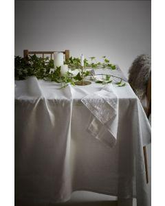 White Linen Tablecloth - 140 x 230cm