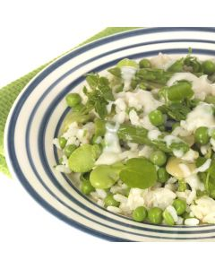 Broad Bean, Pea and Asparagus Risotto