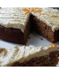 Spiced carrot, date and pecan cake