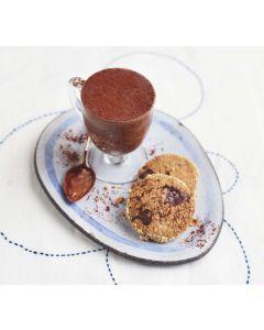 Sea Salt Chocolate Mousse with Hazelnut Rye Cookies