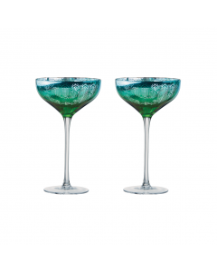 Peacock Champagne Saucers
