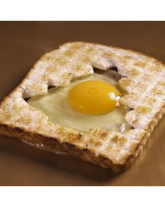 Christmas Tree Egg In Toast