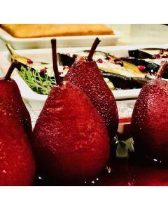 AGA Poached Pears