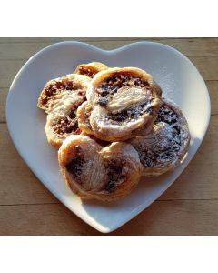 Chocolate and Hazelnut Puff Pastry Hearts
