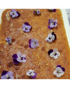 Elderflower and Lemon Crunchy Top Traybake