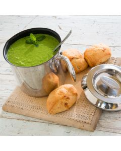 Fresh Pea Soup with a Hint of Mint