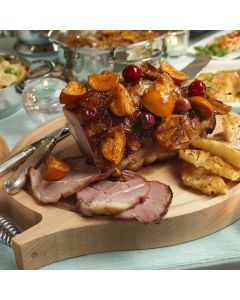 Gammon with Caramelised Tangerines and Cherries