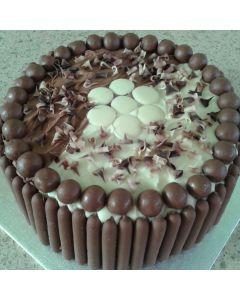 Kim's Half & Half Double Chocolate Cake