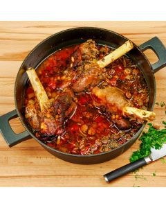 Coalbrookdale Pot Lamb Shanks with Cannellini Beans