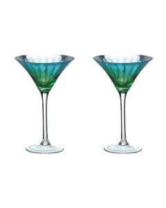 Peacock Martini Glasses