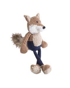 Navy Tweed Fox Dog Toy