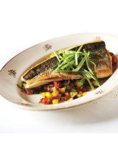 Pan Fried Sea Bass with Tangy Mango Salsa