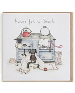 Paws for a Break Greetings Card