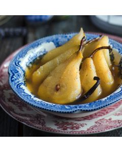 Pears in White Wine with Ginger