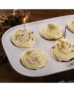 Prosecco Spiked Festive Cakes