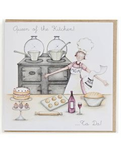 Queen of the Kitchen Greetings Card