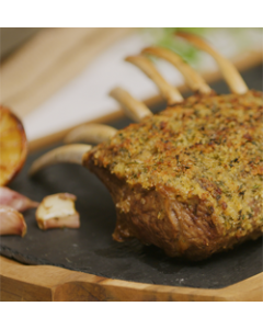 Rack of Welsh Lamb with Herby Mustard Crumb