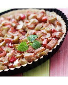 Rhubarb and Cinnamon Flan