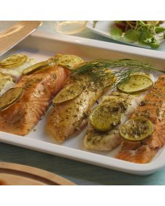 Salmon Tranche with Fresh Lime and Ginger Sauce