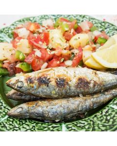 Fresh Sardines with Warm Tomato Dressing