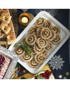 Sausage & Rosemary Whirls