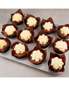 Spicy Carrot Cake Muffins