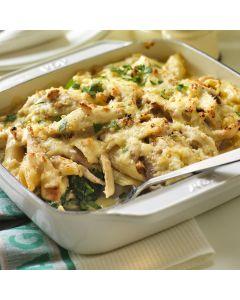 Chicken, Spinach and Pasta Bake