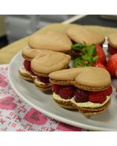 Valentine's rich dark chocolate and raspberry macaroons