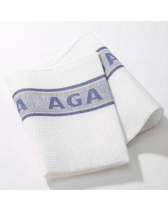 Blue AGA Tea Towels