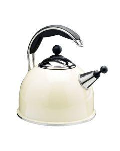 AGA Stainless Steel Whistling Kettle Cream