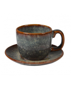 Set of Four Espresso Cups and Saucers
