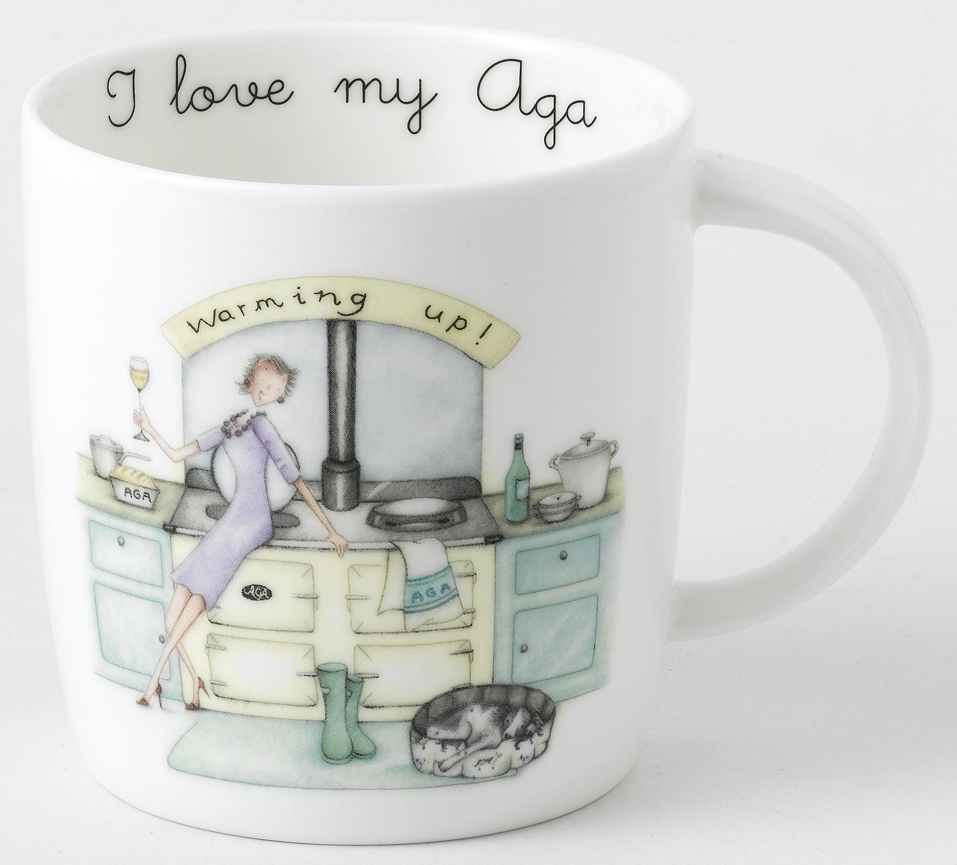 AGA Mug Designs by Berni Parker - Warming Up