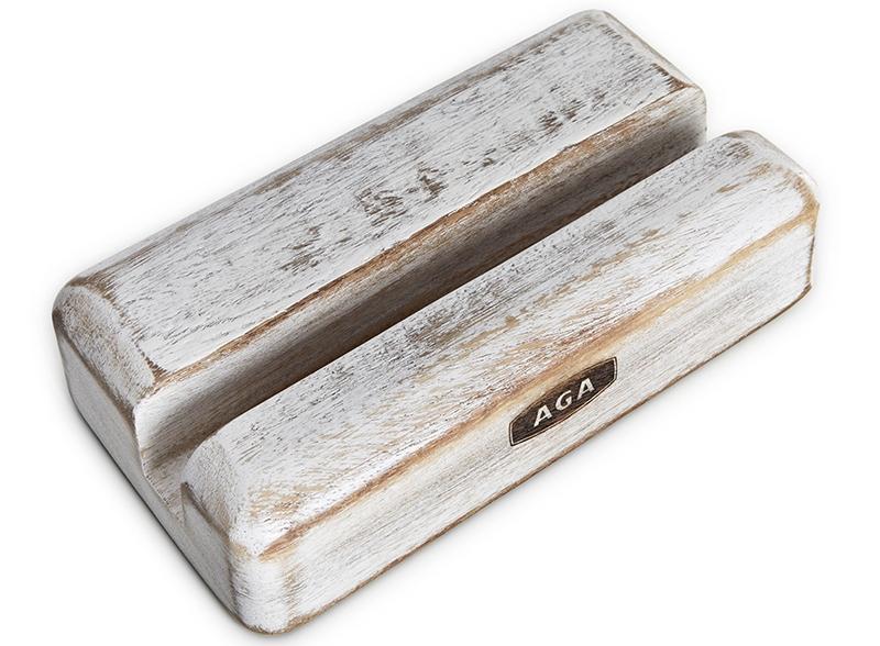 AGA Nordic White Acacia Wood Tablet Holder