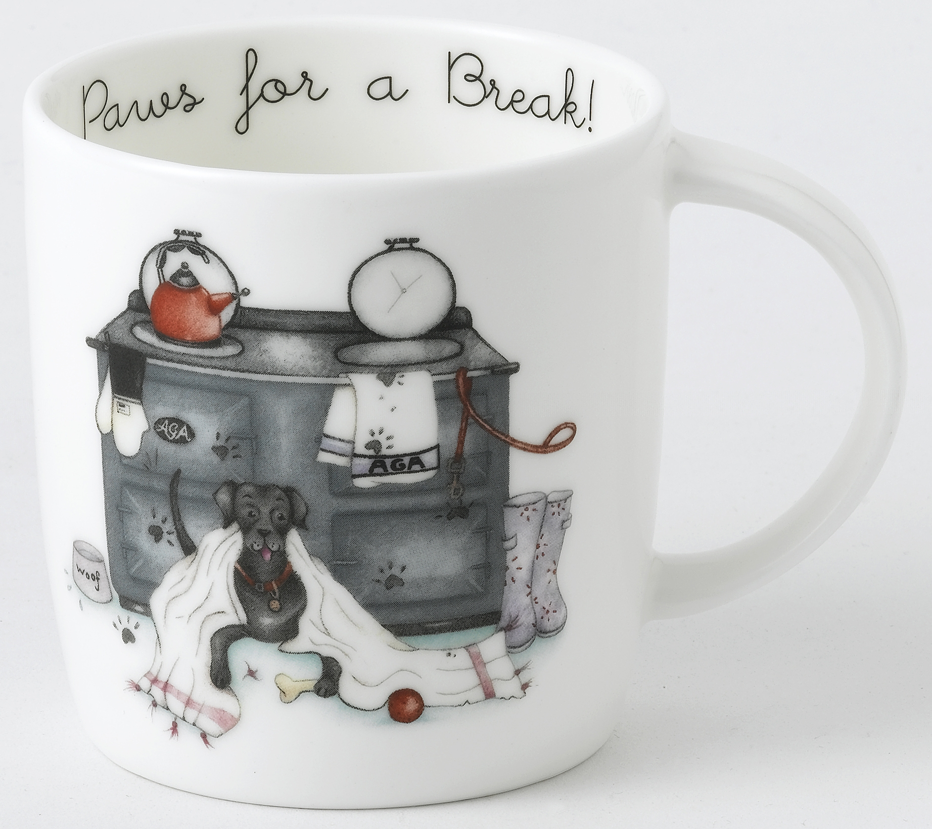 AGA Mug Designs by Berni Parker - Paws for a Break