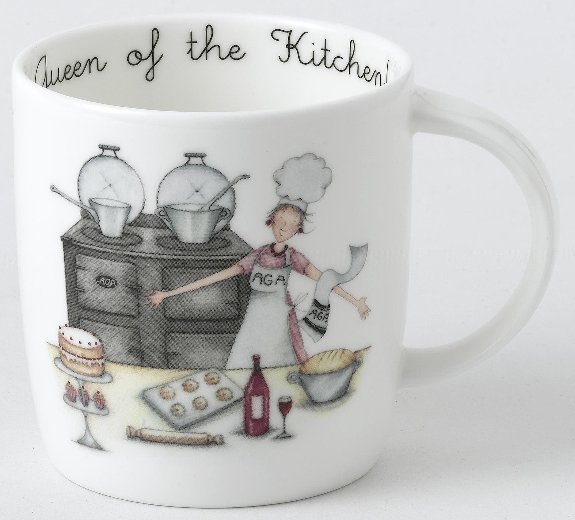 AGA Mug Designs by Berni Parker - Queen of the Kitchen