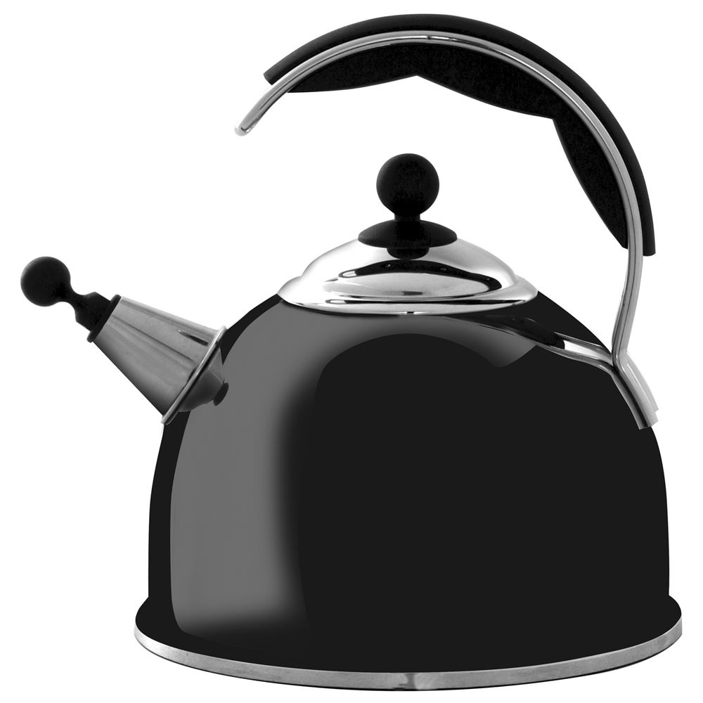AGA Gloss Black Stainless Steel Whistling Kettle lowest price