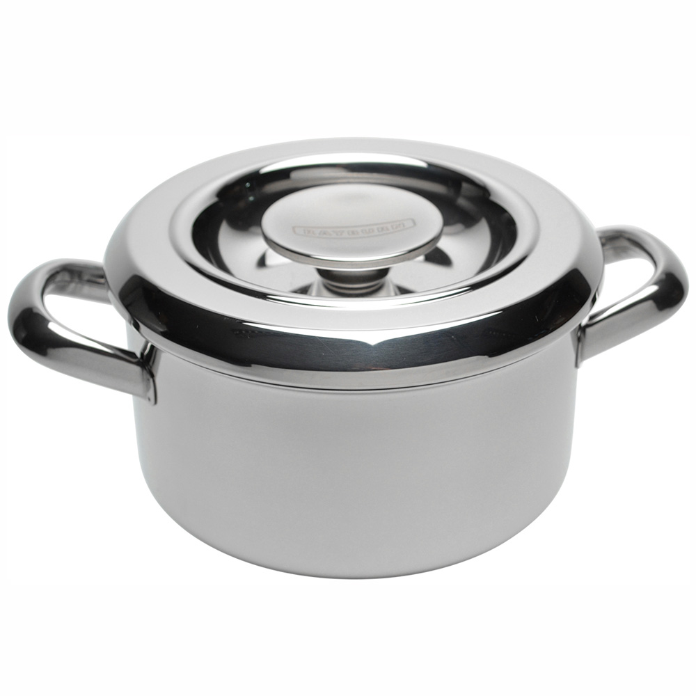 Cookware 18cm Stainless Steel Rayburn Casserole with Lid