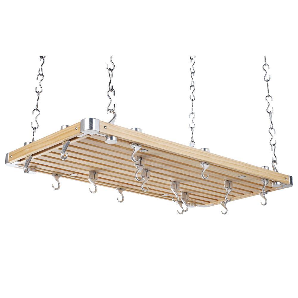 Hahn Large Rectangular Wooden Ceiling Rack lowest price
