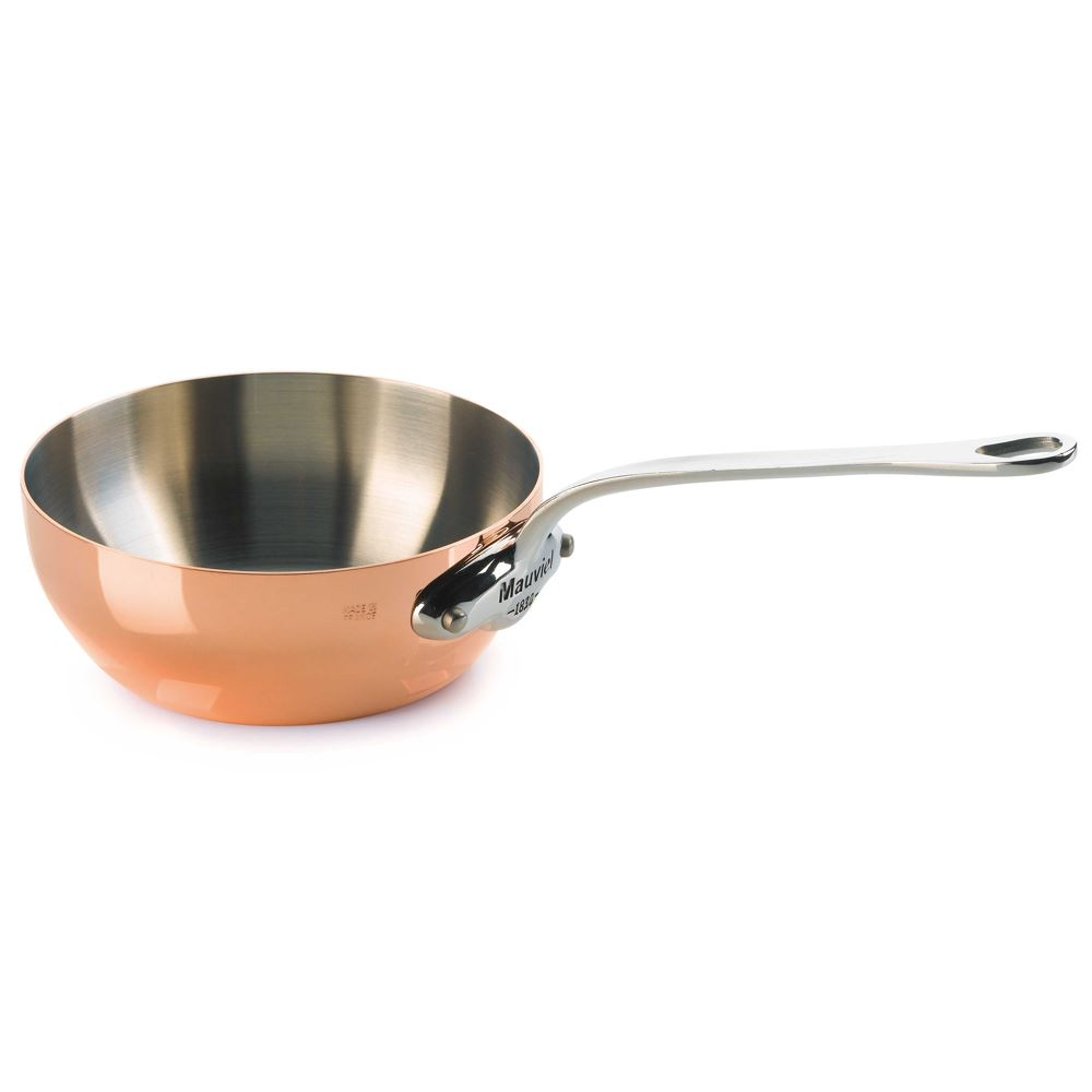 Mauviel 20cm Splayed Copper Saut Pan lowest price
