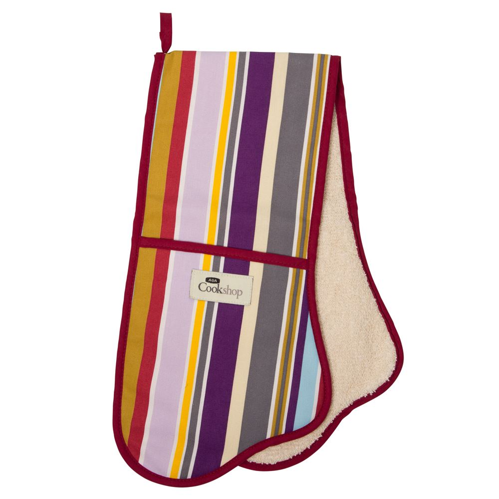 Iconic Stripe Double Oven Glove lowest price