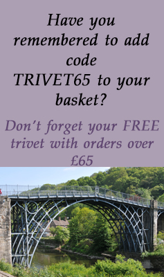 Free U320 Trivet with orders over £65