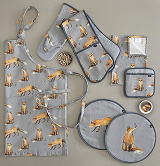 New AGA Fox and Mouse Textile Range